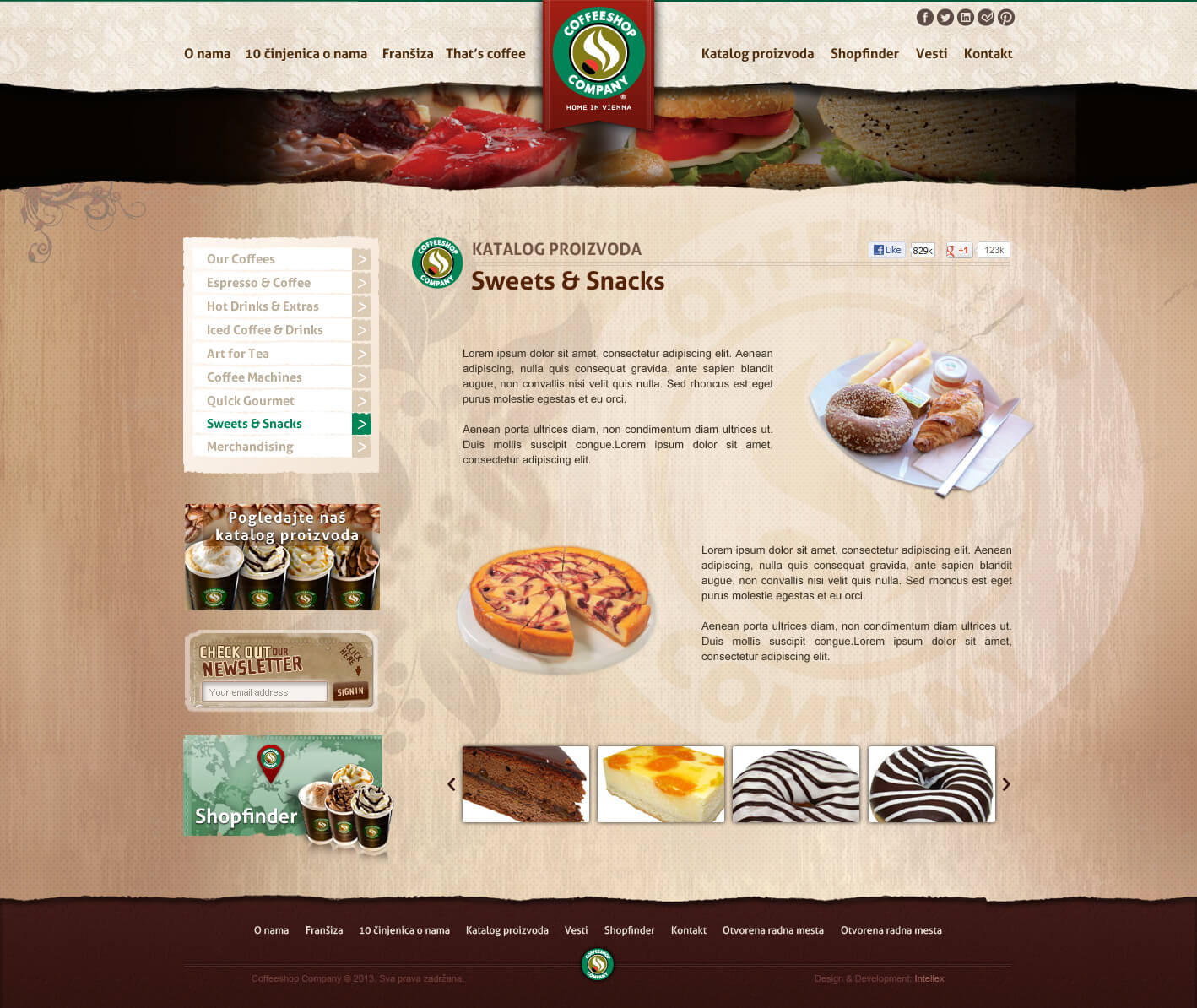Coffeeshop Company, Vienna Coffee Shop: addresses, menus